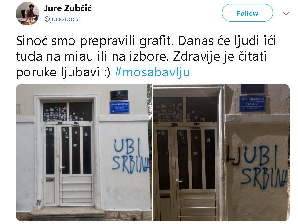 Zadranin prepravio grafit