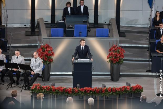 Makron u Bundestagu: Svet je na raskrsnici, okupiti snage za EU