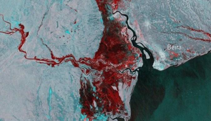 Poplave u Mozambiku vidljive iz svemira, more unutar zemlje