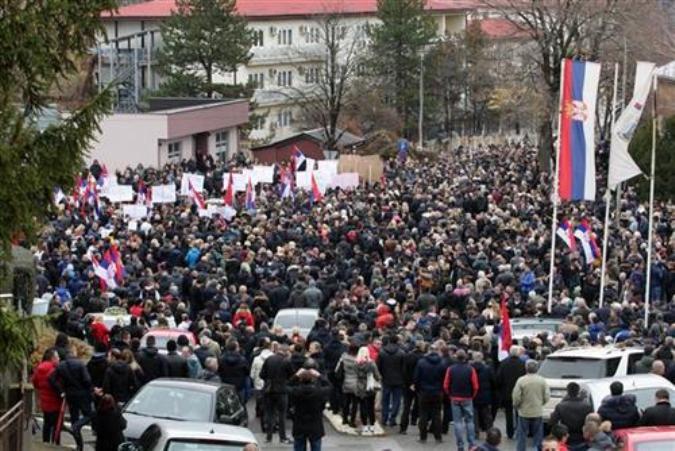 Novi protest Srba u Severnoj Mitrovici danas u podne