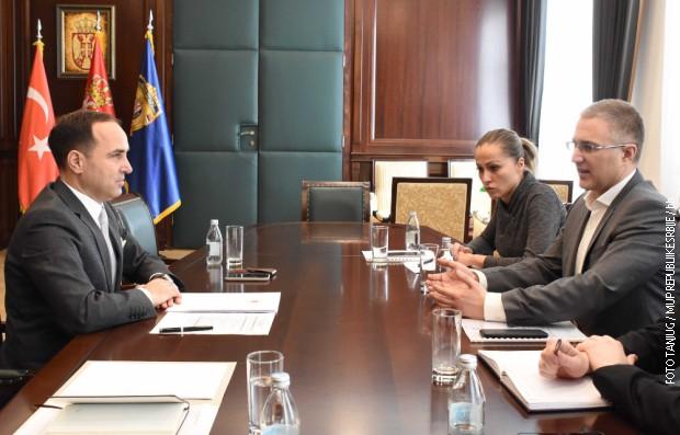 Stefanović i Bilgič o saradnje u oblasti bezbednosti