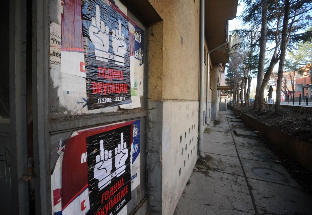 U Severnoj Mitrovici plakati