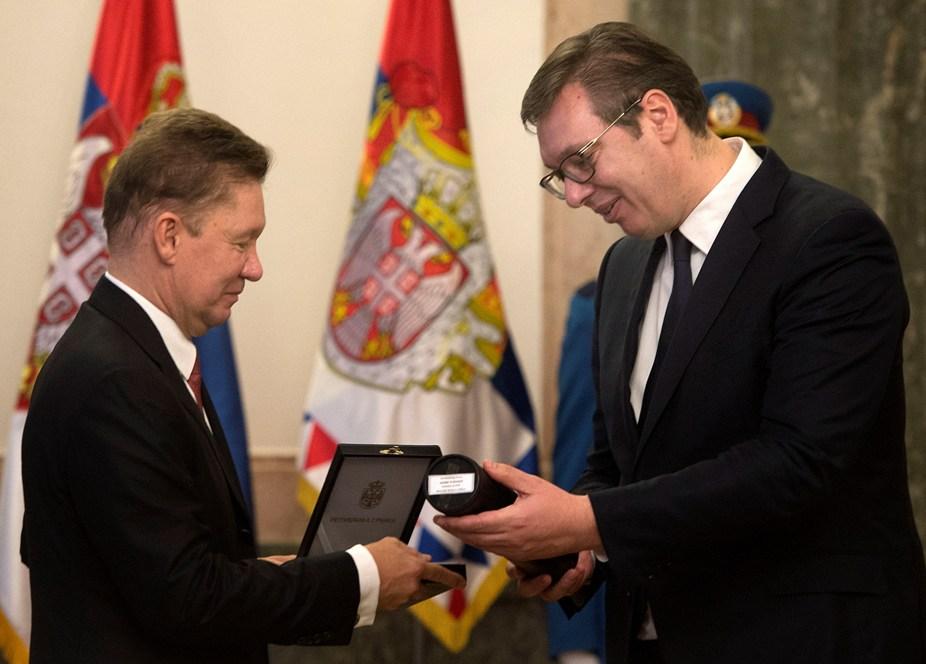 Vučić odlikovao Alekseja Milera