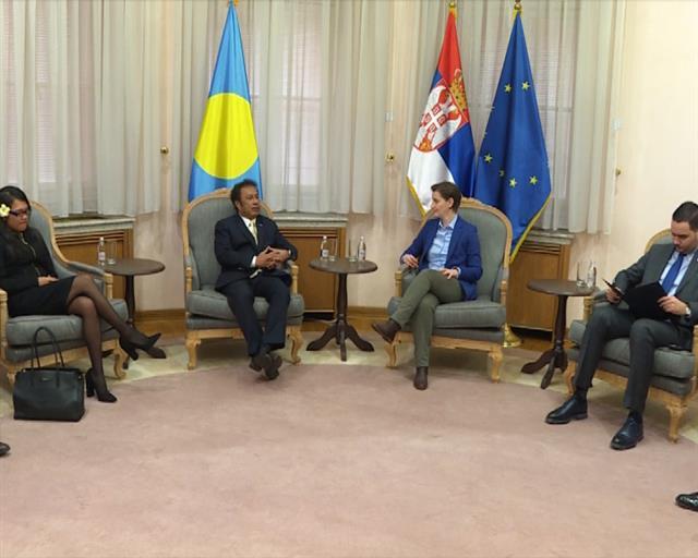 Brnabić s predsednikom Republike Palau o saradnji