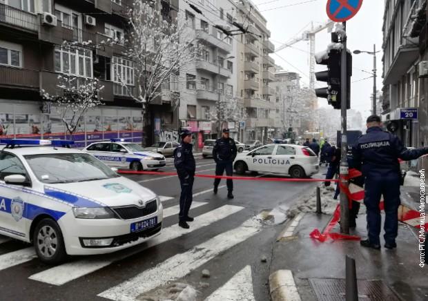 Blokiran deo Takovske ulice zbog opasnosti od rušenja krana