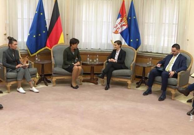 Brnabićeva sa nemačkom ministarkom o saradnji Vojvodine i Hesena