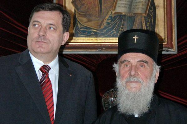 Dodik sa patrijarhom pred susret sa papom