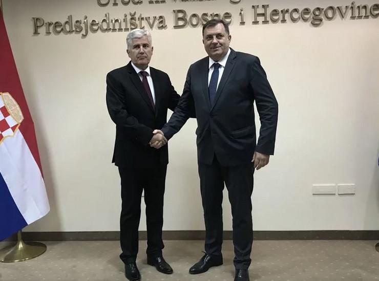 Dodik i Čović dogovorili saradnju na svim niovima vlasti