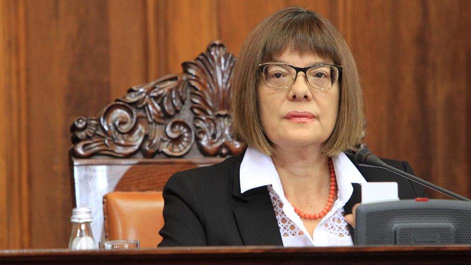 Maja Gojković u Rusiji, obraćanje poslanicima Dume