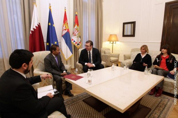 Vučić sa ambasadorom Katara
