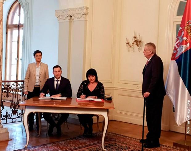 Otpisano 70 odsto klirinškog duga Srbije prema Češkoj