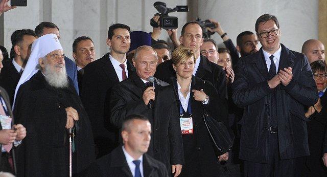 Putin građanima ispred Hrama Svetog Save: Hvala na prijateljstvu