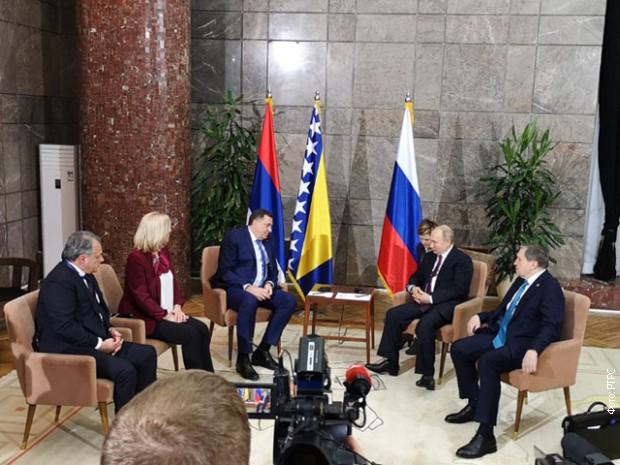 Cvijanovićeva i Dodik sa Putinom: Rusija važan partner Srpske