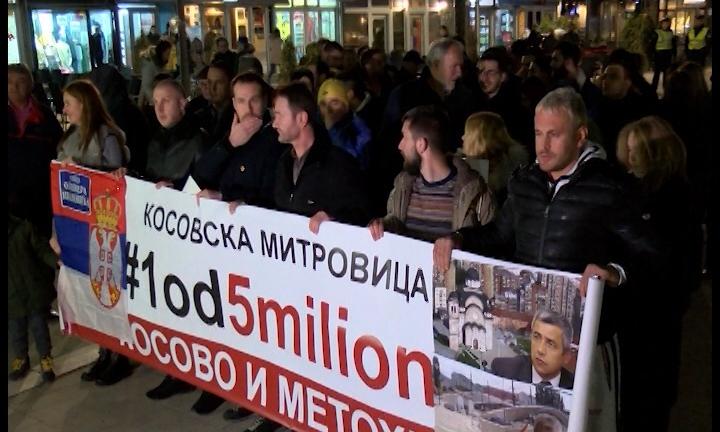 """U Kosovskoj Mitrovici održan još jedan skup """"#1od5miliona"""""""