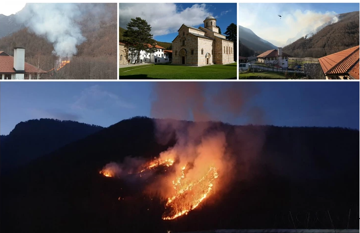 Helikopterima ugašen požar u blizini Dečana